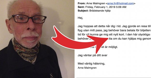 Arnes e-mail was hijacked – the woman is a traitor on 24 700 sek