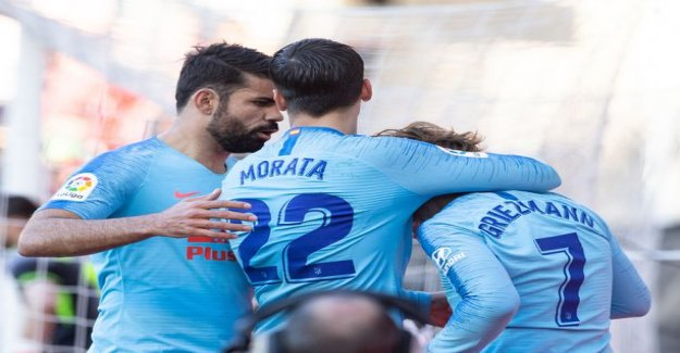 Atleticolle easier to beat Rayo Vallecanoon - Diego Costa returned at last to the playing field