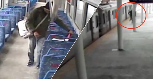 Baby abandoned in train: the Father would have to smoke