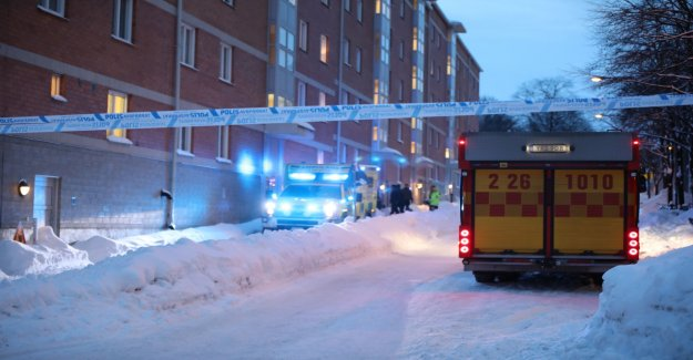 Big police operation in central Gävle, a suspect for attempted murder