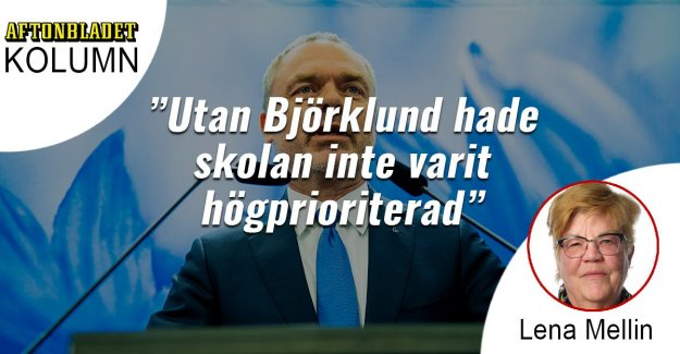 But Björklund, the school had not been a high priority