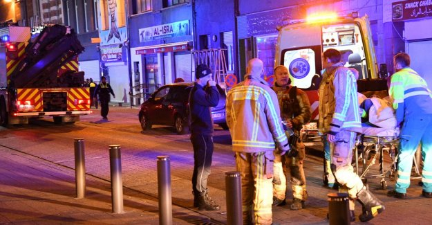 Couple in life-threatening danger after a fire in the living room in Antwerp