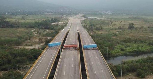 Dispute over delivery of aid: Venezuela's military blocked the bridge