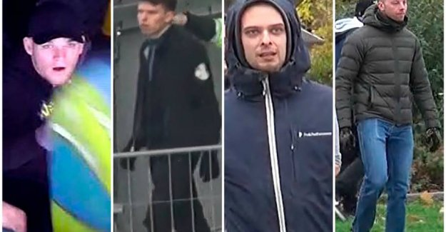 Do you know these men? Police calls for hooligans