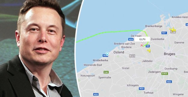 Elon Musk landed on the airport of Oostende