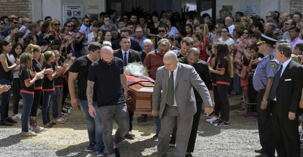 Family and friends in a tearful goodbye: Sala buried