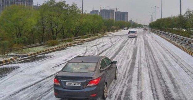 Hail in New Delhi – never seen anything like it