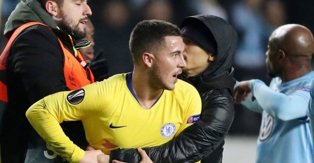 Hazard falls in against Malmo, but in particular must deal with enthusiastic veldbestormer