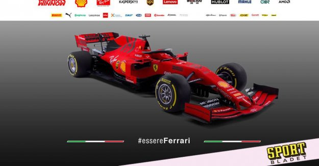 Here is Ferrari's new car for the F1 in 2019