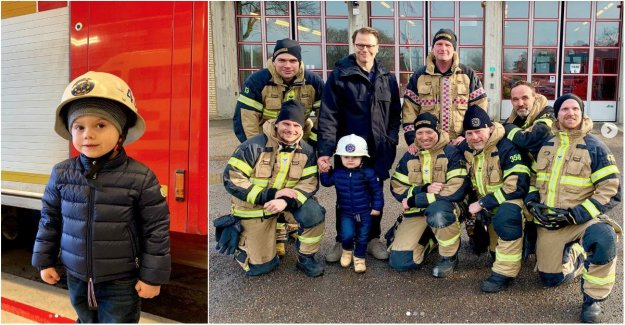 Here prince Oscar test on life as a firefighter