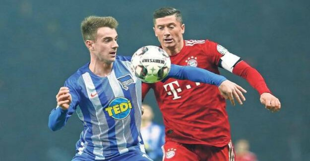 Hertha BSC : Luke Klünter: 10.6 seconds for the outside of the track