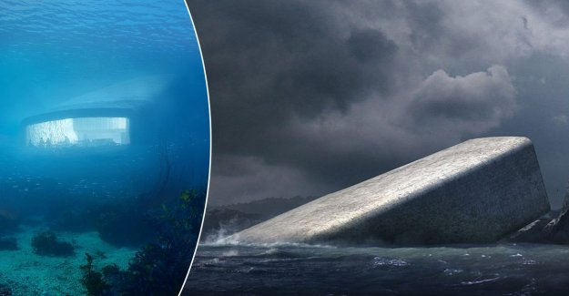 IN THE PICTURE. In Norway opens this spring, greatest underwater restaurant in the world