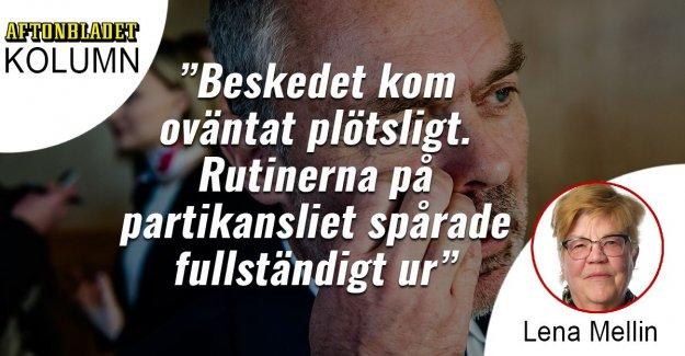 Jan Björklund resigned in a panic