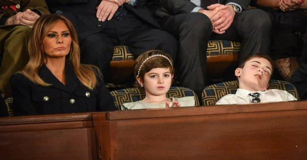 Joshua Trump fell asleep right in the middle of trump's speech