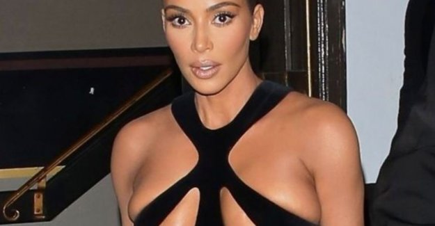 Kim Kardashian leaves nothing to the imagination in vintage Thierry Mugler dress
