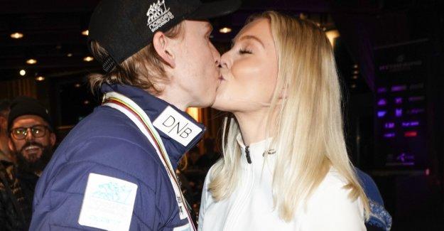 Kristoffersen got gullkysset after the world cup feat