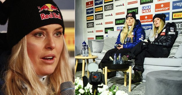 Lindsey Vonn ilsknade to at SVT:s question
