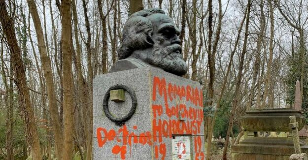 London : vandals desecrate the grave of Karl Marx
