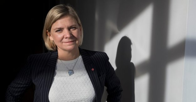 Magdalena Andersson: a reduction in taxes and the reduction of disparities, there is no simple equation