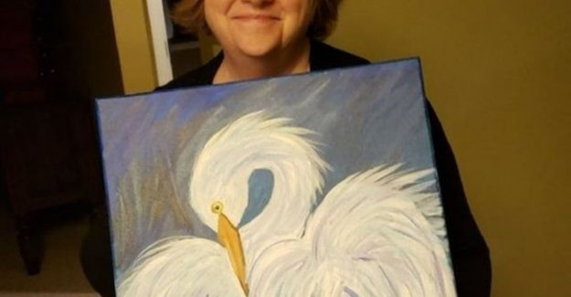 Mama painted her second piece of art and brings hilarious dominoreactie about on social media
