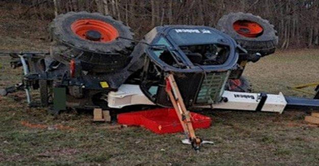 Man dies under his own tractor