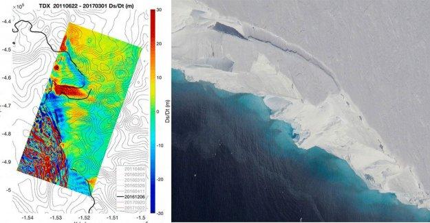 Nasa alert about the hole under Antarctic, domedagsglaciär