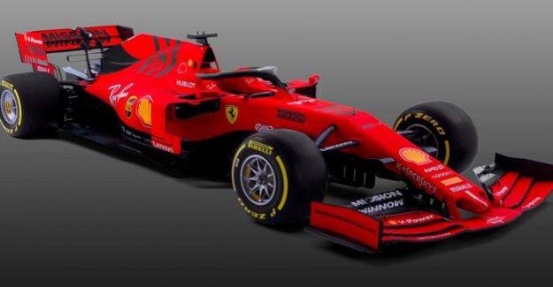 New car for Sebastian Vettel : Ferrari presented the car for the world title