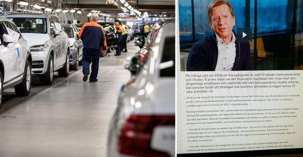 No bonus – myteristämning on the Volvo