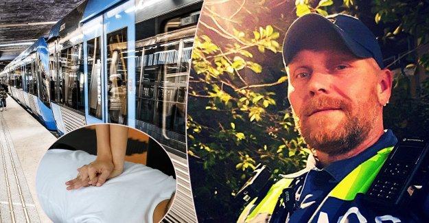 Ordningsvakten Fredrik saved the one-year boy