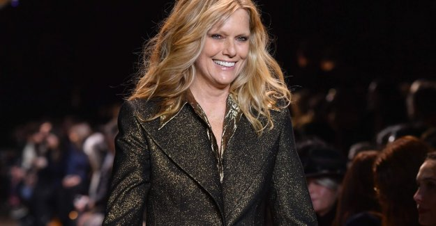 Patti Hansen, 62-year-old model and wife of Keith Richards, connect fashion show, Michael Kors af