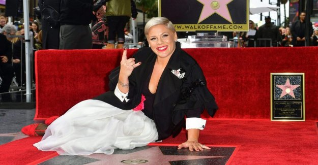 Pink received a star on the Hollywood Boulevard