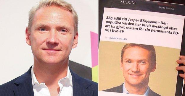 Potensmedelannons spread in Jesper Börjessons name: Incredibly insulting