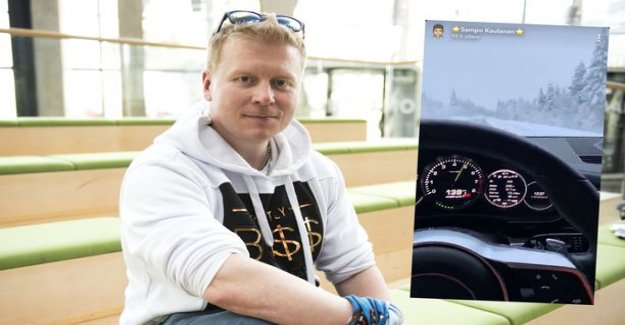 Sampo Kaulanen then hit the richer-Porschellaan - broke completely disregard the law
