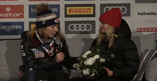 Shiffrins tribute to the swede after the world CUP-gold