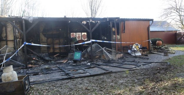 Single woman comes to life from fire in the chalet