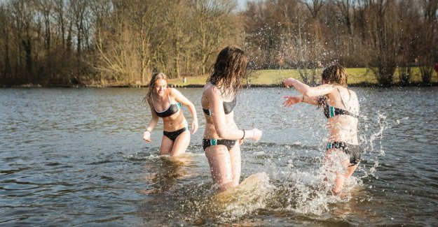 Sixteen degrees in February? Everyone the water in!