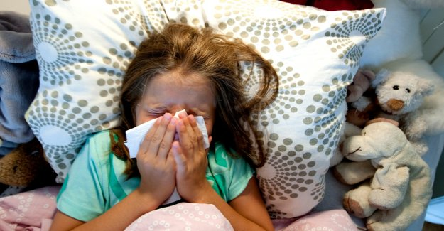 Small children are particularly affected by this year's flu