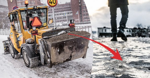 Snörröjare run the risk of fines – if they botched the sandningen