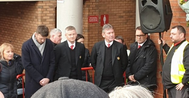 Solskjær participated in the emotional celebration of the Munich crash