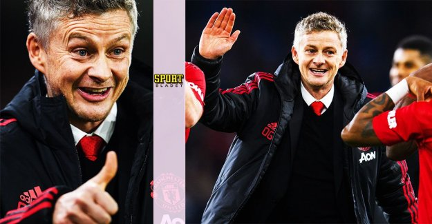 Solskjær was appointed of the month coach