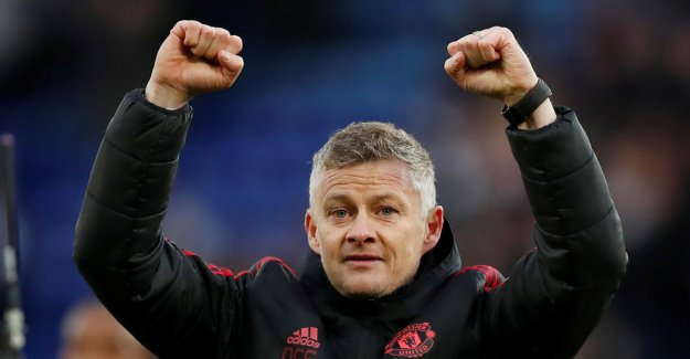 Solskjær was awarded to the month's manager. Broke long United-drying