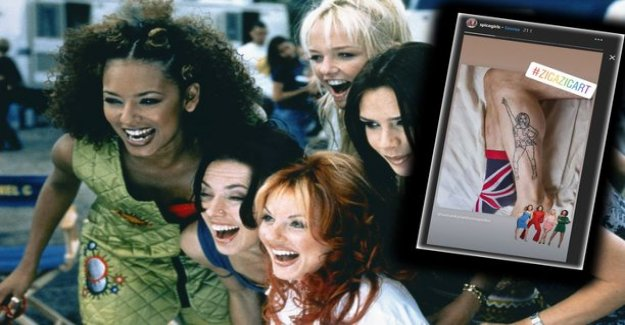 Spice Girls-a band sharing a Finnish blogger tattoo picture to Instagram: I Was like, oh my god!