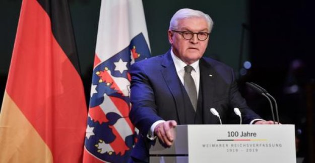 Steinmeier pays tribute to the Weimar Constitution: Teaching, acting up today
