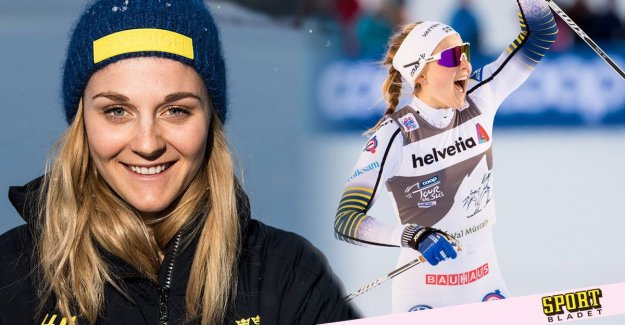 Stina Nilsson is ready for the start: Charged as hard as she can