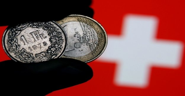 Swiss franc falls the Euro to the lowest level in three months