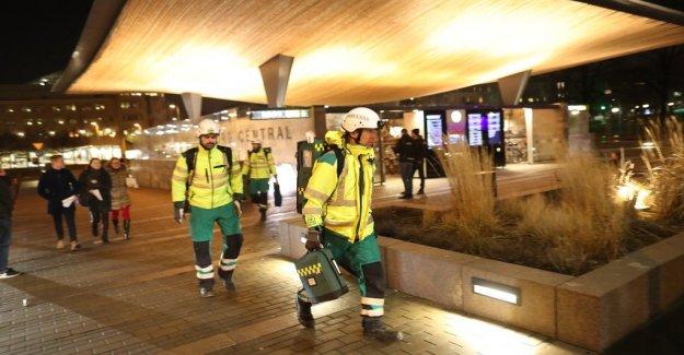 Tågkrock in Helsingborg, sweden – several slightly injured
