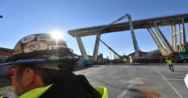 The bridge in Genoa demolished half a year after the tragedy