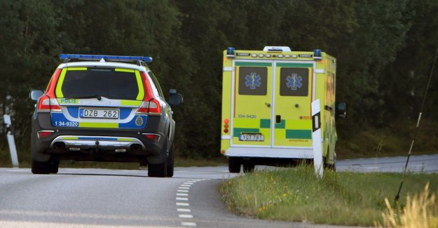 The bus has driven off the road – one to the hospital
