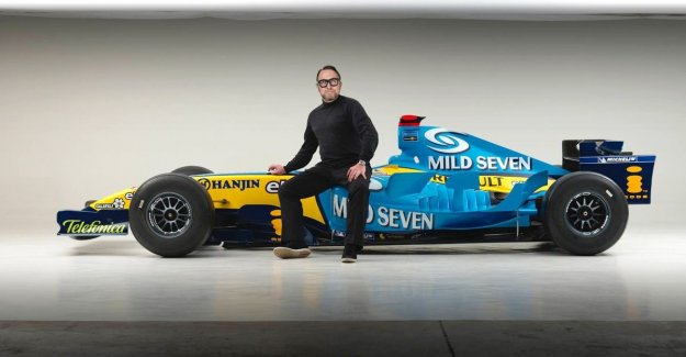 The kampioenenwagen of Alonso in a photo studio in Pittem: Mathieu made of the childhood dream of every little boy to his profession