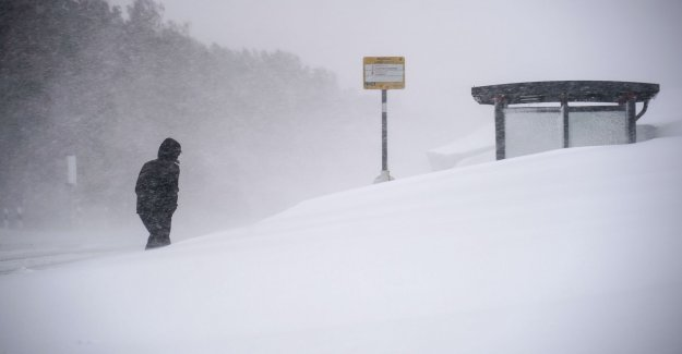 The storm has picked up speed in the mountains